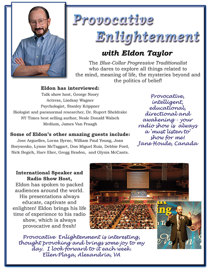 Eldon Taylor - Provocative Enlightenment Radio Flier Page 1
